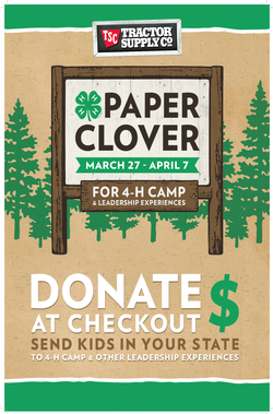 Tractor Supply Paper Clover campaign poster