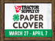 80x60 Spring Paper Clover-use in email signatures