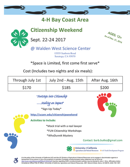 Citizenship Weekend flyer