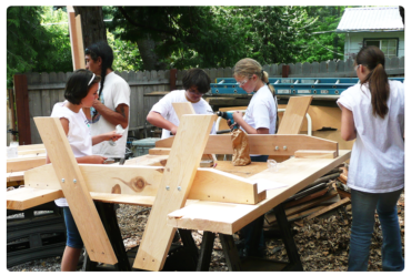 Building Picnic Tables for Siskiyou Park Area
