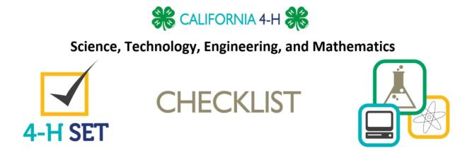 SET Checklist Header