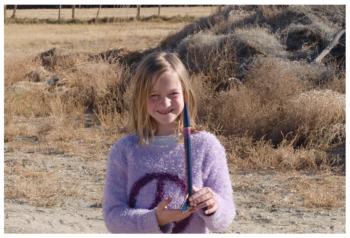 Girl Holding Rocket