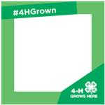 image of 4-H Grown photo booth sign