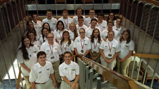The National Shooting Sports Ambassadors and the 4 adult leaders of the Leadership Institute
