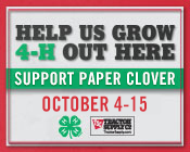 175x140 Spring Paper Clover - Use in emails, newsletters