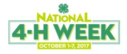 National 4-H Week 2017 logo