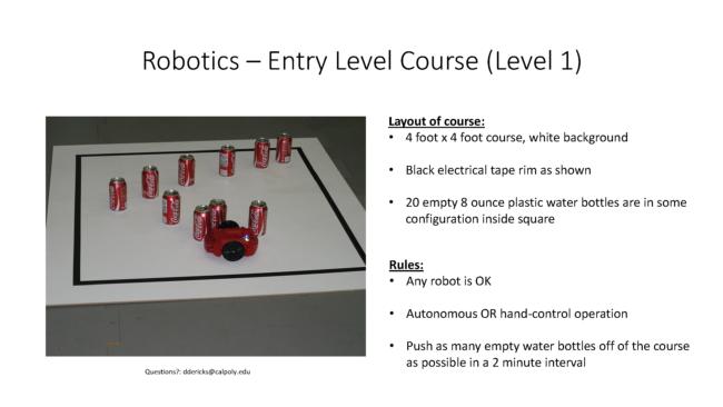 Robotic Challenge Course 1